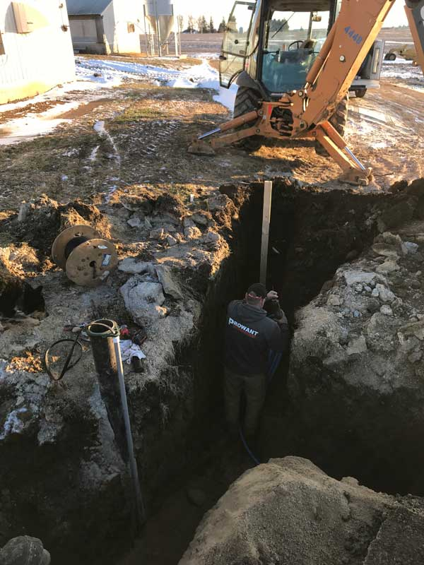 Excavation for Plumbing Project